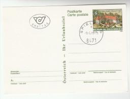 1989 Austria SPIELFELD Postal STATIONERY CARD FIrst Day SPIELFELD  CASTLE Stamps Cover - Stamped Stationery