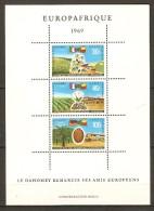 DAHOMEY.     1969.   Y&T  B-F. N°16 **.     Europafrique.  Coton / Palmiste / Kenar /  Drapeaux. - Bénin – Dahomey (1960-...)