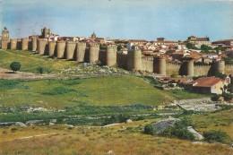 P1071 - POSTAL - AVILA - VISTA PARCIAL Y MURALLAS - Ávila