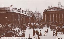 Bank Of England & Royal Exchange London England - Banks