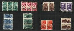 SWA - 1943/1944 War Effort Reduced Sizes Overprint MH - África Del Sudoeste (1923-1990)