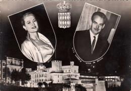 MONACO - Grace Kelly U.S.A.S. Rainer III, Fotokarte Gel.1957 - Monaco