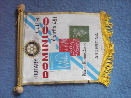 FANION:  DOMINICO DISTRITO 491.    (ARGENTINA).  -   ROTARY CLUB  INTERNATIONAL. - Organisations
