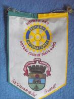 FANION:  PORTO ALEGRE.  Rio Grande Do Sul.   (BRASIL).  -   ROTARY CLUB  INTERNATIONAL. - Organisations