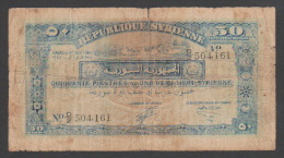 SYRIA ,SYRIE, 50 Syrian Piasters ,1/ 8 /1942, No:52, G. - Syrie