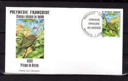 """POLYNESIE FRANCAISE 1995 : Enveloppe 1er Jour """" OISEAUX UNIQUES ... """" N° YT 479. Parfait état. FDC"""