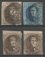 Belgique - Médaillons N°6(1)+7(1)+10A(2) Obl.P42 Fontaine-l'Evêque - Belgique