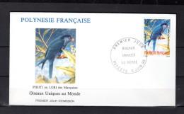 """POLYNESIE FRANCAISE 1990 : Enveloppe 1er Jour """" OISEAUX UNIQUES : PIHITI """" N° YT 361. Parfait état. FDC"""