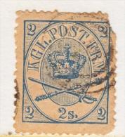 DENMARK  11  Fault  Filler  (o) - 1864-04 (Christian IX)