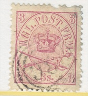DENMARK  12  Fault  Filler  (o) - 1864-04 (Christian IX)
