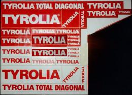 Vintage Adesivo Sticker Autocollant TYROLIA SKI BINDINGS-ATTACCHI DA SCI-[cm.19x21] -1984- - Stickers