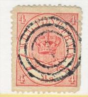DENMARK  13   Fault  Filler  Perfs   (o) - 1864-04 (Christian IX)