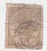 DENMARK  15  Fault  Filler      (o)  ON THIN PAPER - 1864-04 (Christian IX)