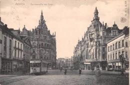 "01881 ""ANVERS - LA NOUVELLE RUE LEYS"" ANIMATA, TRAMWAY. P. DIERCKX  AUTO. CART. ORIG.  SPED. 1906 - Belgio"