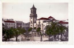 Algeciras (Càdiz) - Plaza Del Generalisimo Franco Y Parroquia De N.S De La Palma - Cádiz