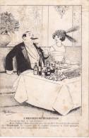 C.P.A. Humour - Guillaume - L'Heureuse Digestion - Tiens, Au Fait, Et Ton Régime ? - Humour