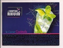 """Livret Bardinet """"le Comptoir Du Rhum"""": Recettes Cocktails Au Rhum Dillon, Depaz, Bellevue, Montebello.... - Rum"""