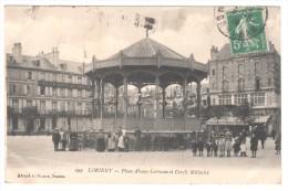 **CPA 56 : 299 - LORIENT - Place Alsace-Lorraine Et Cercle Militaire - Ed. A.Nozais à Nantes - 1915 - Lorient