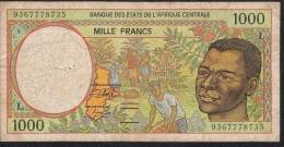 CENTRAL AFRICAN STATES GABON P402La  1000  FRANCS 1993  VF - Central African States