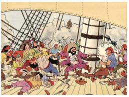 (910) Cartoon - Tintin And Captain Haddock - Stripverhalen