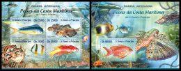 S. TOME & PRINCIPE 2013 - African Fauna: Fishes - YT 4064-7 + BF628; CV = 29 € - Sao Tome En Principe
