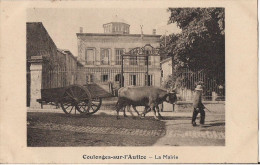 COULONGES SUR L´AUTIZE LA MAIRIE CPA ANIMEE ATTELAGE DE BOEUF - Coulonges-sur-l'Autize