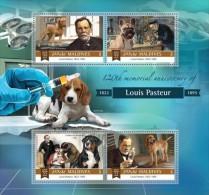 Maldives. 2015 Louis Pasteur. Dogs. (810a) - Louis Pasteur