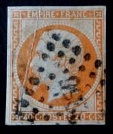 NAPOLEON III - EMPIRE FRANC. 1853 - OBLITERE PETITS CHIFFRES  - YT 16 - NON-DENTELE - 1853-1860 Napoleon III