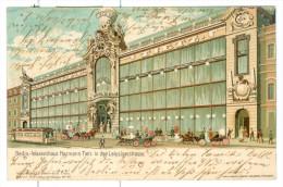 1902 Berlin, Waarenhaus Hermann Tietz, Leipzigerstr. Pc Colour, Shop, Carriages,trams. Used - Shops