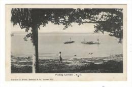 ÎLES  FIDJI  /  FIJI  /  FISHING  CANOES  /  Published By MORRIS , HEDSTROM  & Co., LEVUKA , FIJI - Fidji
