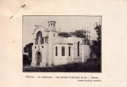 BASARABIA : CUHURESTII DE JOS [ FLORESTI / SOROCA ] - BISERICA - ÎN CONSTRUCTIE -  STADIUL LUCRARII ~ 1934 - '35 (s-556) - Moldavie