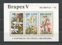 BRESIL 1982 Bloc N° 48 ** Neuf = MNH Superbe Cote 12,50 € Flore Fleurs BRAPEX V Laelia Flora Flowers - Blocks & Sheetlets