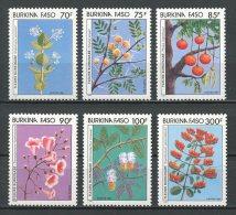 BURKINA 1987 N° 731/736 ** Neufs = MNH Superbes Cote 10 € Flore Fleurs Acacia Flora Flowers - Burkina Faso (1984-...)