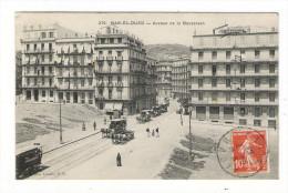 ALGERIE  /  BAB-EL-OUED   ( Banlieue D' ALGER ) /  AVENUE  DE  LA  BOUZAREAH  ( Calèches Et Tramway à Chevaux ) - Otras Ciudades