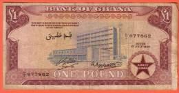 GHANA - 1 Pound Du 01 07 1958 - Pick 2a - Ghana