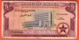 GHANA - 1 Pound Du 01 07 1961 - Pick 2c - Ghana