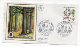 """1985--enveloppe 1er Jour - FDC """"Soie"""" -arbre--Hêtre Fayard --cachet  ORLEANS--45 - FDC"""