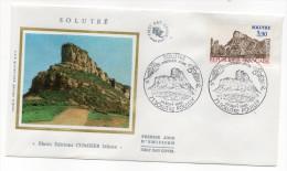 """1985--enveloppe 1er Jour - FDC """"Soie"""" -La Roche De Solutré --cachet SOLUTRE POUILLY--71 - FDC"""