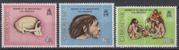 """Gibraltar - 125 Jahrestag Der Auffinding Des """"Gibraltar-Schädels"""" - Opgraving """"Gibraltar-schedels"""" - MNH - M 299-301 - Archeologie"""