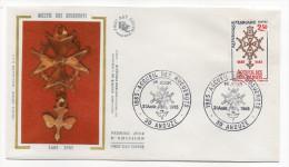 """1985--enveloppe 1er Jour - FDC """"Soie"""" -Accueil Des Huguenots --cachet  ANDUZE--30 - FDC"""