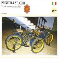 Prinetti & Stucchi Tricycle Et Remorque Articulée  - 1899   -  Fiche Technique Moto (Italie) - Autres