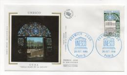 """1985--enveloppe 1er Jour - FDC """"Soie"""" -UNESCO-Cuba-Place De La Havane --cachet  PARIS--75 - FDC"""