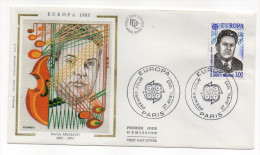 "1985--enveloppe 1er Jour - FDC ""Soie"" -EUROPA--Darius Milhaud -cachet  PARIS--75 - FDC"