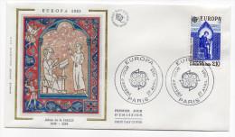 """1985--enveloppe 1er Jour - FDC """"Soie"""" -EUROPA--Adam De La Halle--cachet  PARIS--75 - FDC"""