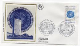 """1985--enveloppe 1er Jour - FDC """"Soie"""" --NATIONS  UNIES---cachet  PARIS--75 - FDC"""