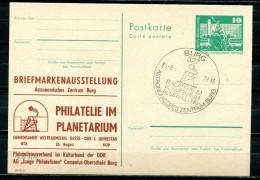"""DDR 1979 GS Mi.PP16 Mit Privaten Zudruck""""Astronomisches Zentrum Burg """"mit SST""""Burg-Astro Zentrum """"1 PGS Use - Astrologie"""