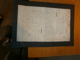 Lettre De Joseph FRAVEGA Min. Republique Ligurienne à Alexandre BERTHIER Min. De La Guerre. 28/1/1802-2,4e Année Ligurie - Documents Historiques