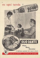 # OLIO DANTE 1950s Advert Pubblicità Publicitè Reklame Food Olio Huile Oil Ol Aceite - Manifesti
