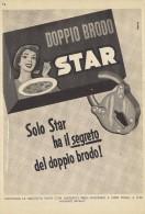 # DOPPIO BRODO STAR Muggiò Gallina Blanca 1950s Advert Pubblicità Publicitè Reklame Food Broth Bouillon Broth Bruhe - Manifesti