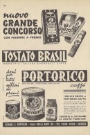 # CAFFE´ TOSTATO BRASIL PORTORICO 1950s Advert Pubblicità Publicitè Reklame Food Coffee Cafè Kaffee - Manifesti